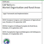 CAP Reform: Market Organisation and Rural Areas.