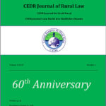 Journal of Rural Law, Vol.3, N°1, 2017
