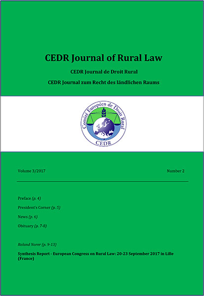 Journal of Rural Law Vol.3, N°2 2017