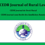 CEDR Journal of Rural Law – new edition