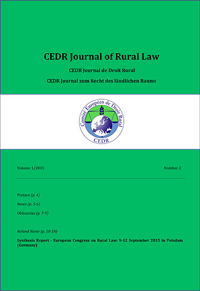 Journal of Rural Law Vol.1, N°2 2015