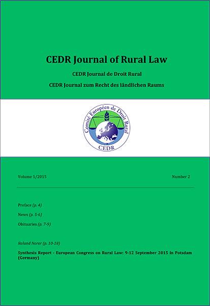 Journal of Rural Law Vol.1, N°2 2015