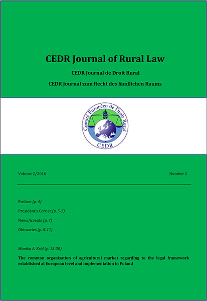 Journal of Rural Law Vol.2, N°2 2016