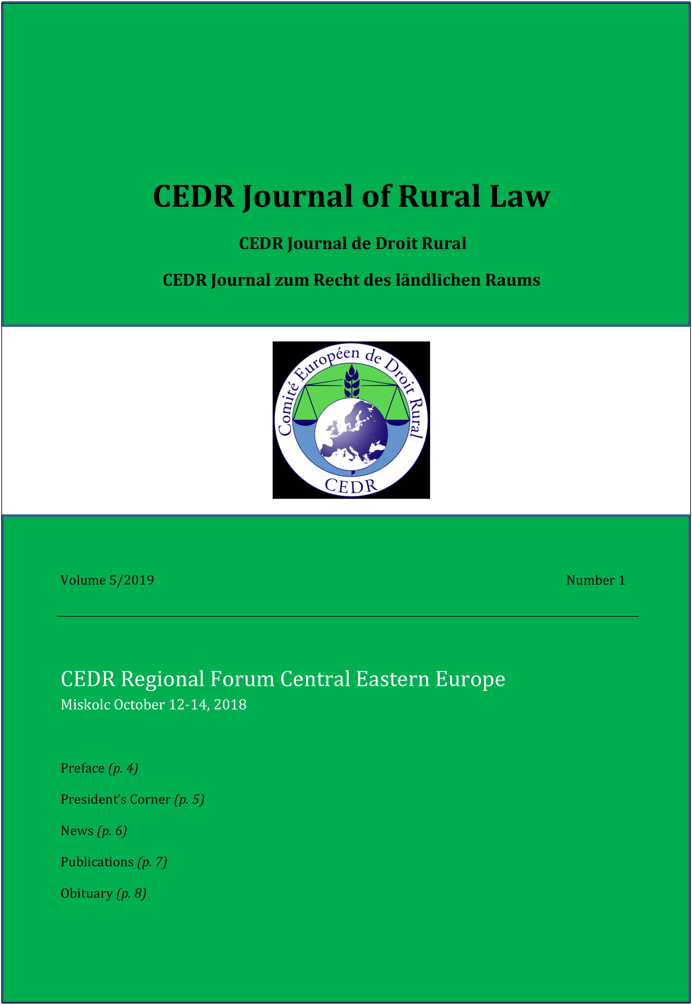 Journal of Rural Law Vol. 5 N°1, 2019
