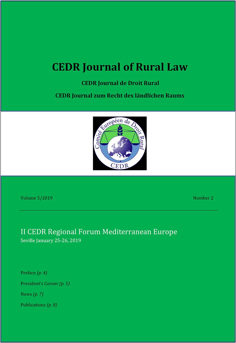 Journal of Rural Law Vol.5 N°2, 2019