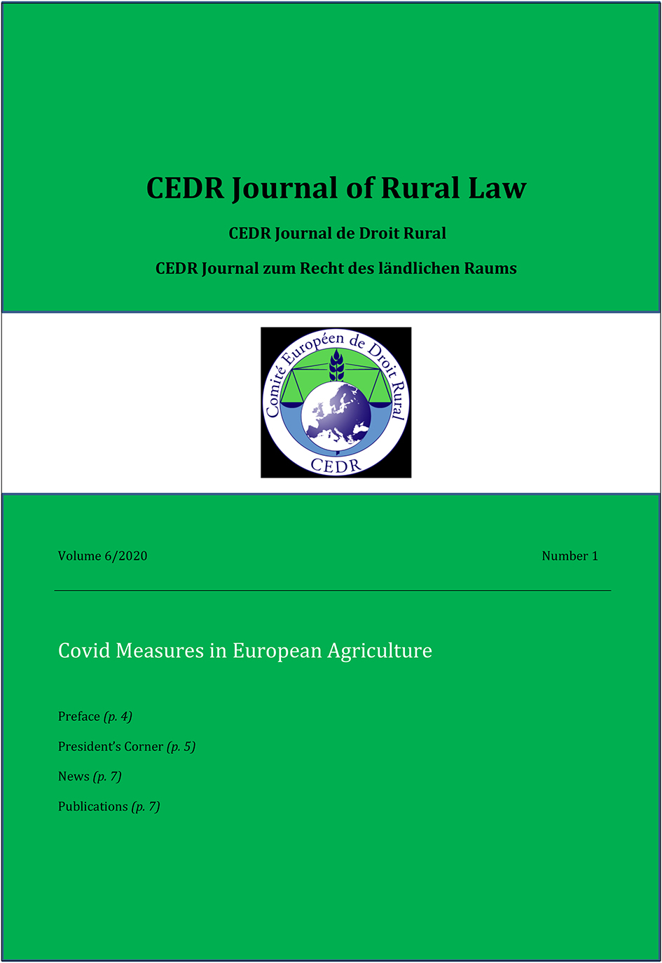 Journal of Rural Law Vol.6 No.1, 2020